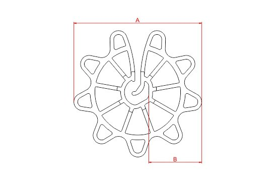 Desenho Técnico CA - Circular Aberto (4 - 12 mm)