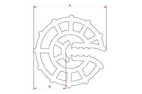 Desenho Técnico  CA - Circular Aberto (4 - 8 mm e 10 - 16 mm)