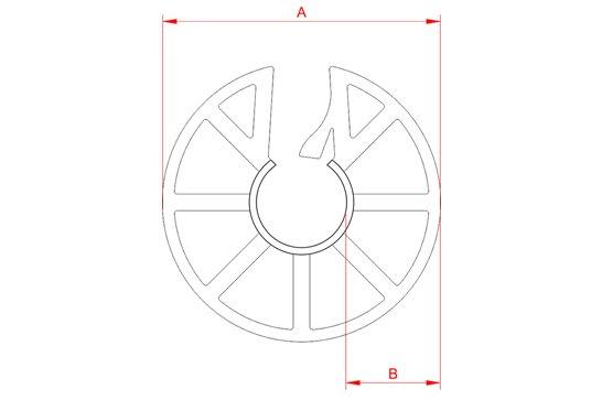 Desenho Técnico  CA - Circular Aberto Simples