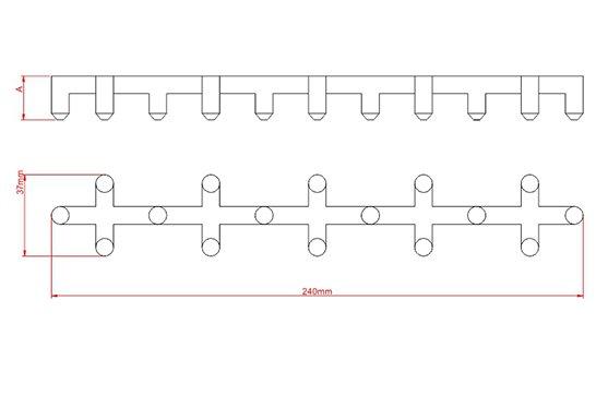 Desenho Técnico  AF - Apoio de Ferro (Centopeia)