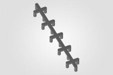 Ilustração 3D  AF - Apoio de Ferro (Centopeia)